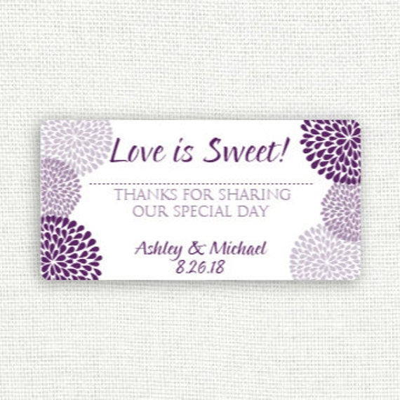 Wedding Favor Bag Labels : Wedding Candy Bag Favor Labels (2 4) -DOWNLOAD InstantlyEDITABLE ...