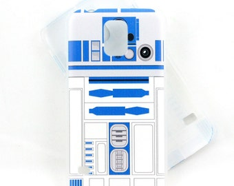 R2D2 inspired case for Samsung Galaxy S5 phone - everyones favorite droid in blue