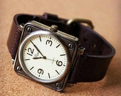 Sales, Mens Watch, Men Watch Leather, Big Face Wrist Watch