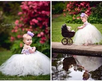 "The ""Penelope"" dress-lilac dress periwinkle lace brooch flower girl dress-ballerina birthday dress"