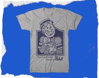 Pabst Blue Ribbon Vintage look I need a pabst ManT shirt all sizes Small Medium Large XL XXL XXL