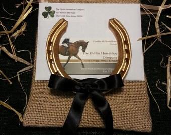 Lucky Gold Authentic Worn Irish Horseshoe ~ Imported From Ireland