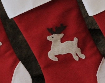 Laurelies Christmas Stocking Margery Collection: Reindeer Stocking
