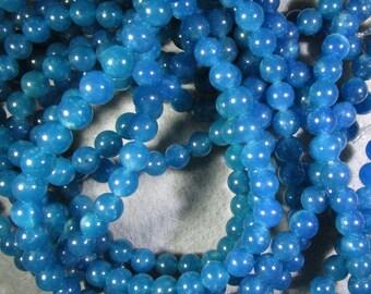 8 MM Natural Apatite Bead, 16 Inch Strand