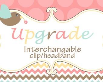 UPGRADE -- make any headband a interchangable headband with clip