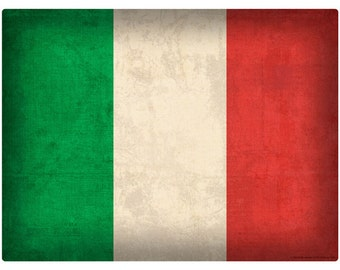 Italian National Flag Distressed Wall Decal #48301