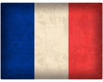 French National Flag Distressed Wall Decal #48304