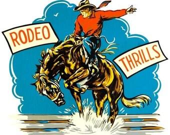 Rodeo Thrills Cowboy Western Wall Decal #51365
