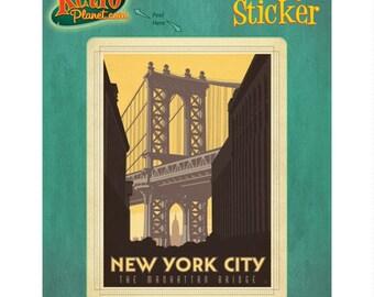 New York City Manhattan Bridge Vinyl Sticker #47904