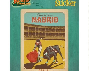 Madrid Spain Plaza De Toros Vinyl Sticker #47932