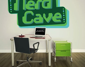 Nerd Cave 8 Bit Video Game Wall Decal #51752