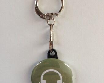 Music Headphones Keychain Handmade Keychain, Music Lover, Headphones, Vintage, Geekery, Geek, Funny Keychain