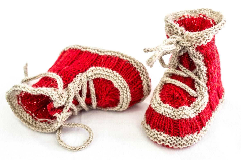 Epipa Knitting Pattern Baby Booties : KNITTING PATTERN Baby Booties Pattern Lace Up Booties Baby
