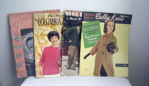 Old Knitting Pattern Books : Vintage Knitting Pattern Books lot of 4 from by Pepperandlavender