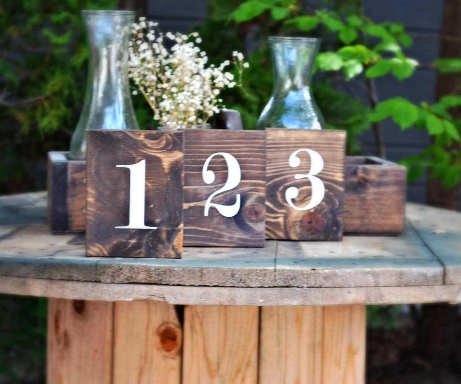 Custom Wedding Accessories: Set of 25 Rustic Double Sided ...