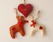 Reindeer Christmas Decorations- rudolph red nosed reindeer,  traditional christmas decoration
