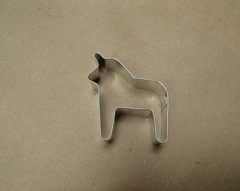 "Small Swedish Dala Horse Cookie Cutter 1 1/2"""