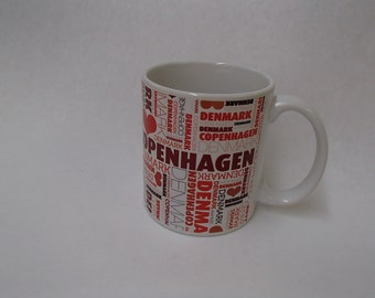 Denmark Danish Love Copenhagen Coffee Tea Mug #320