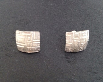 Fancy handcrafted 925 silver studs
