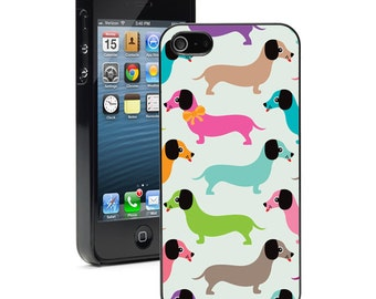 For Apple iPhone 4 4s 5 5s 5c 6 6s Plus Hard Case Cover 977 Retro Dachshund Doxie Dogs