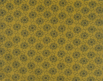 RJR Fabrics Audrey Wright Briarcliff 1670 03 Medallion Gold by the Yard