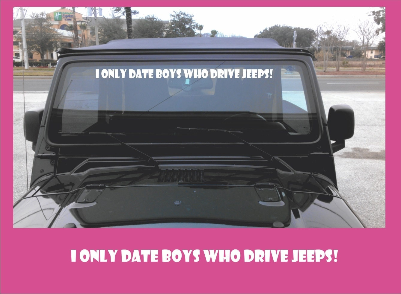Jeep Girl Vinyl Windshield Decal Sticker From Shop317 On