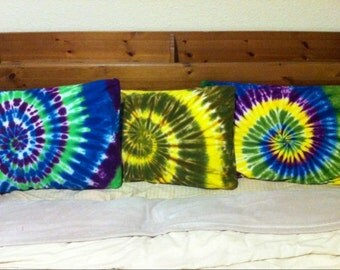 Custom Hand Dyed Pillow Cases - Tie Dye Bedding