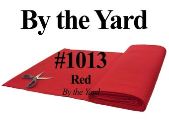 """45"""" Red Broadcloth Fabric - By The Yard"""