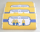 Instant Download - Chocolate Bar Wrappers - Minion
