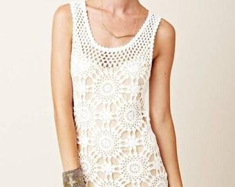 Crochet dress  - made to order - hand made