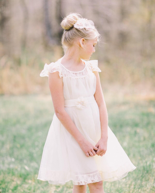 Charlotte flower girl dress ivory flower girl dress girls lace