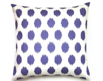 purple ikat pillow cover 18x18 pillow cover purple decorative pillows lavender toss pillow