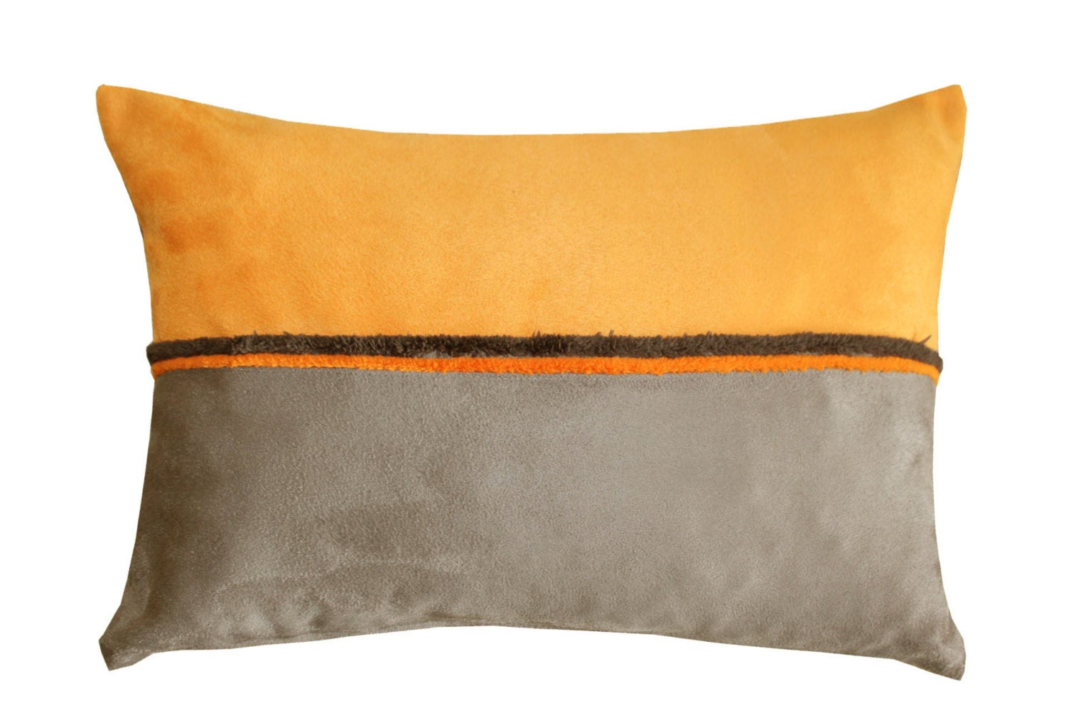 Dark orange pillow Brown damask Decorative Throw Pillow