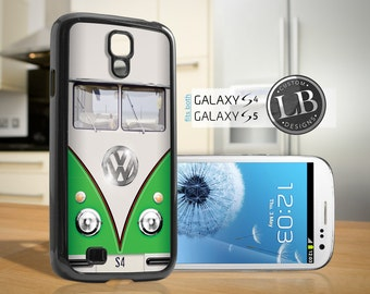 Galaxy S4 / S5 Vintage VW Bus Retro Green - S4 / S5 Case Cover GS4