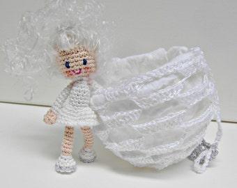 Crochet Doll Pattern - Smilla the Snowflake Girl, Amigurumi Doll with Crochet Ball