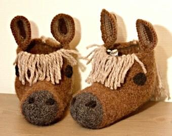 Horse slippers socks shoes