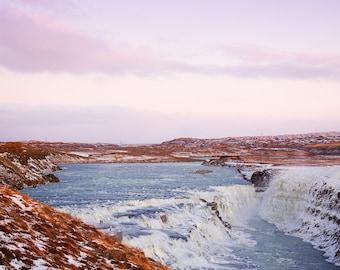 Gullfoss Waterfall in Iceland. Fine Art Photography