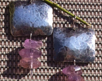 Sterling Silver & Ametrine Earrings