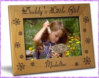 4x6 Personalized Custom Engraved Daddy's Little Girl Frame