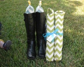 Boot Shaper Stands/Boot Forms - Green Chevron
