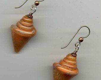 Orange Sherbet Sparkle Earrings