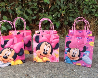 12 Minnie Mouse  -Birthday Party Favor Bags