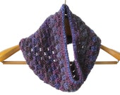 Crochet Handmade Infinity Neck Cowl, Neck Scarf, Chunky Yarn, Royal Purple, Charcoal, Burgundy, Dark Red, Womens Accessories - READY TO SHIP