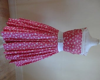 Vintage 1950s Dress - Cotton Poodle Jive Dress