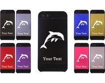 Personalized Engraved Dolphin Aluminum Case for iPhone 4/4s or iPhone 5/5s