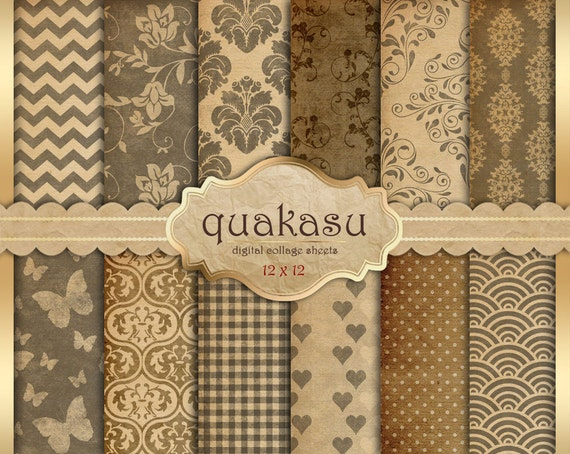 rustick papers digital papier shabby vintage paper von quakasu. Black Bedroom Furniture Sets. Home Design Ideas