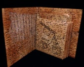 Hand Bound, Hand Inked Libaray Envelope Journal