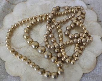 Lot of Big Gold Beaded Necklaces