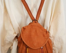 Free Ship Backpack Brown Leather Shoulder Bag Purse
