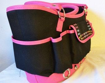 Garden Tool Bag ,organizer bag,Black ,Pink